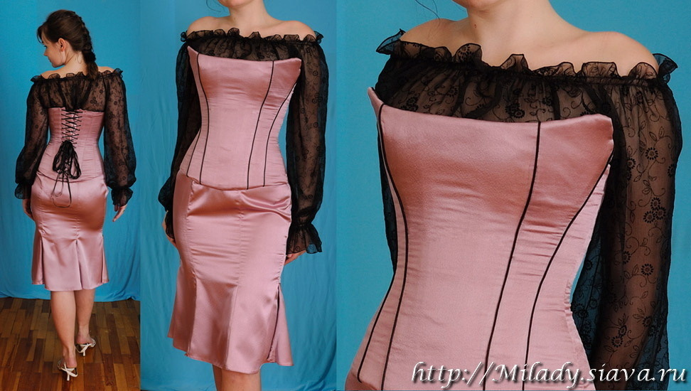 Как сделать корсет своими руками на платье